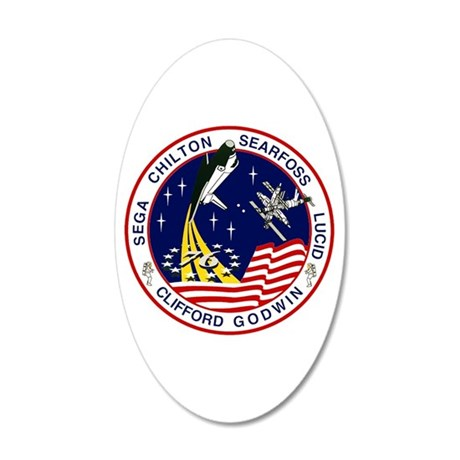 STS-76 Atlantis 20x12 Oval Wall Decal