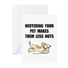 Neutering Nuts Dog Greeting Cards