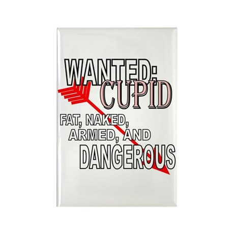 Wanted: Cupid Rectangle Magnet (10 pack)