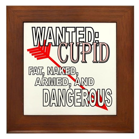 Wanted: Cupid Framed Tile