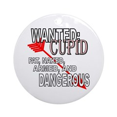 Wanted: Cupid Ornament (Round)