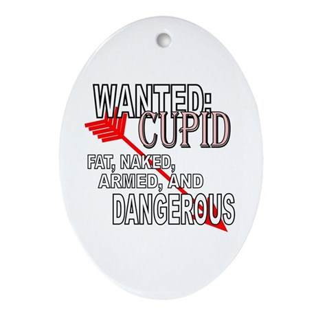 Wanted: Cupid Oval Ornament