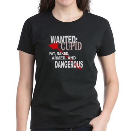 Wanted: Cupid Women's Dark T-Shirt