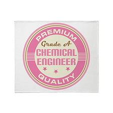 Premium quality chemical engineer Throw Blanket