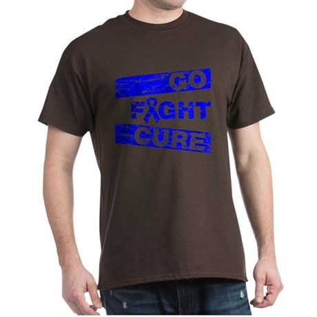 Rectal Cancer Go Fight Cure Dark T-Shirt