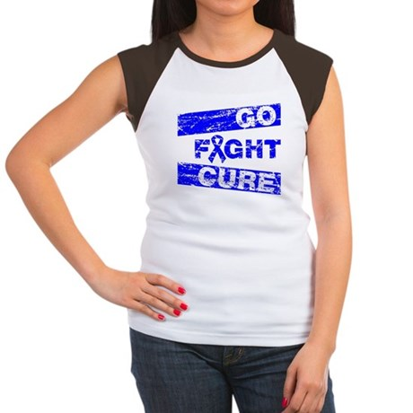Rectal Cancer Go Fight Cure Women's Cap Sleeve T-S