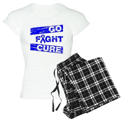 Rectal Cancer Go Fight Cure Women's Light Pajamas