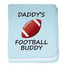Daddys Football Buddy baby blanket