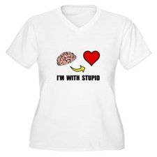 Stupid Heart Plus Size T-Shirt