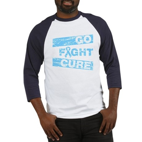 Prostate Cancer Go Fight Cure Baseball Jersey