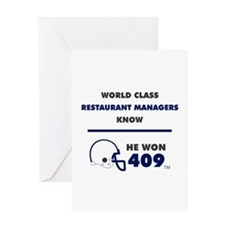 Restaurant Managers Greeting Cards
