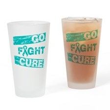PCOS Go Fight Cure Drinking Glass