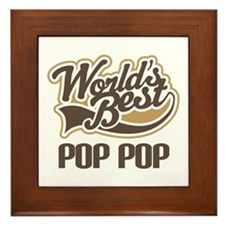 World's Best PopPop Framed Tile
