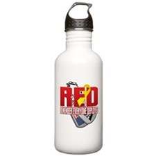 RED: Dog Tags Water Bottle