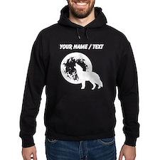 Custom Wolf Howling At Moon Hoodie