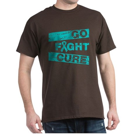 Ovarian Cancer Go Fight Cure Dark T-Shirt