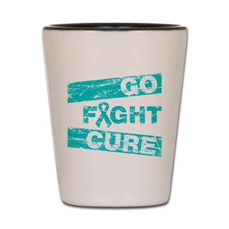 Ovarian Cancer Go Fight Cure Shot Glass