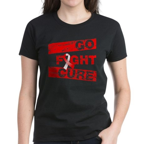 Oral Cancer Go Fight Cure Women's Dark T-Shirt