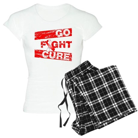 Oral Cancer Go Fight Cure Women's Light Pajamas