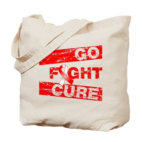 Oral Cancer Go Fight Cure Tote Bag