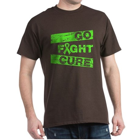 Non-Hodgkins Lymphoma Go Fight Cure Dark T-Shirt