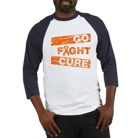 Multiple Sclerosis Go Fight Cure Baseball Jersey
