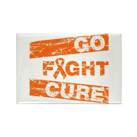 Multiple Sclerosis Go Fight Cure Rectangle Magnet