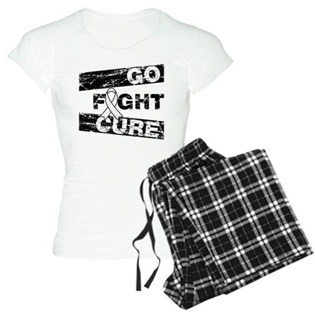Mesothelioma Go Fight Cure Women's Light Pajamas