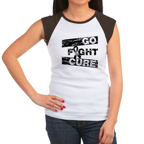 Melanoma Go Fight Cure Women's Cap Sleeve T-Shirt