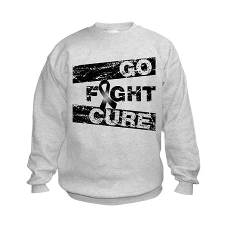 Melanoma Go Fight Cure Kids Sweatshirt