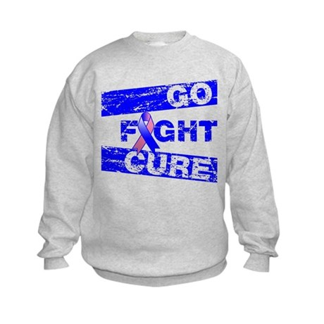 Male Breast Cancer Go Fight Cure Kids Sweatshirt