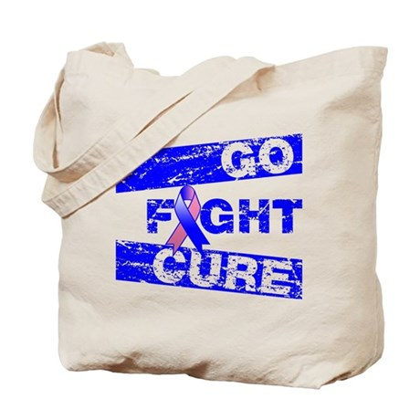 Male Breast Cancer Go Fight Cure Tote Bag