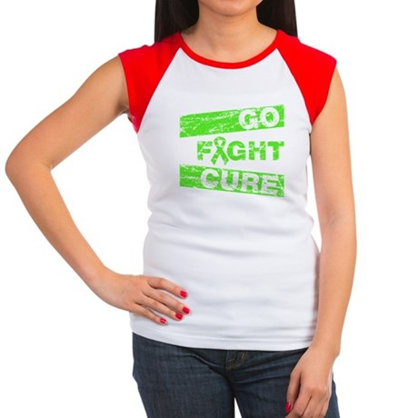 Lymphoma Go Fight Cure Women's Cap Sleeve T-Shirt