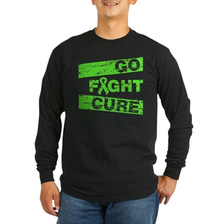 Lymphoma Go Fight Cure Long Sleeve Dark T-Shirt