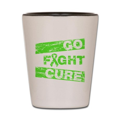 Lymphoma Go Fight Cure Shot Glass