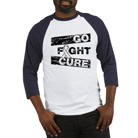 Lung Cancer Go Fight Cure Baseball Jersey