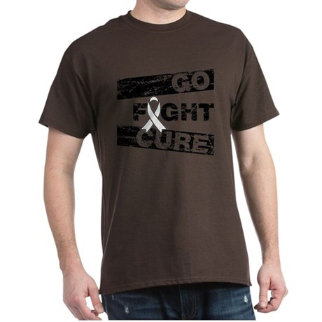 Lung Cancer Go Fight Cure Dark T-Shirt