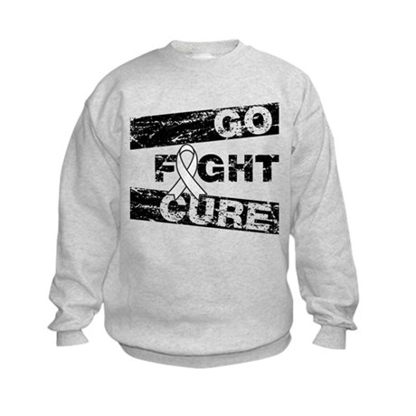 Lung Cancer Go Fight Cure Kids Sweatshirt