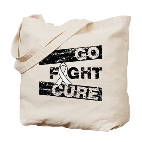Lung Cancer Go Fight Cure Tote Bag