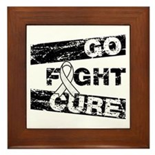 Lung Cancer Go Fight Cure Framed Tile