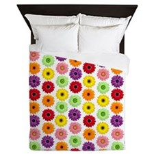Colorful Gerbera Daisies Queen Duvet