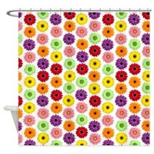 Colorful Gerbera Daisies Shower Curtain