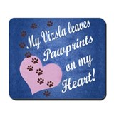 Vizsla Pawprints Mousepad