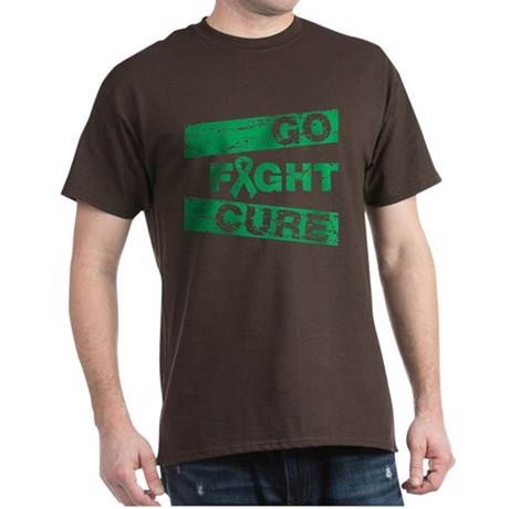 Liver Cancer Go Fight Cure Dark T-Shirt