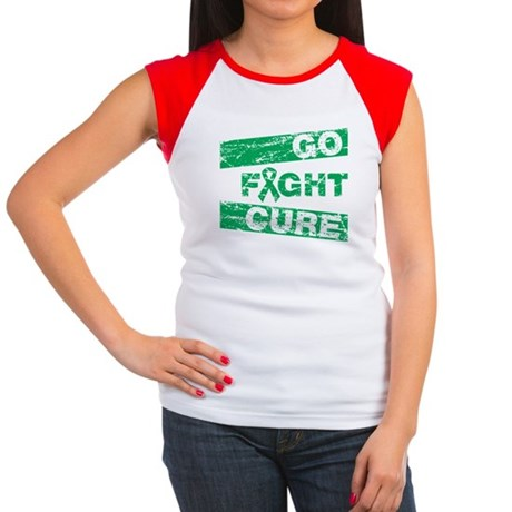 Liver Cancer Go Fight Cure Women's Cap Sleeve T-Sh