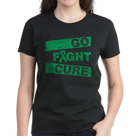 Liver Cancer Go Fight Cure Women's Dark T-Shirt