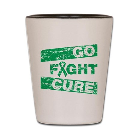 Liver Cancer Go Fight Cure Shot Glass