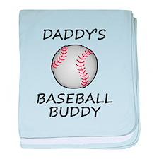 Daddys Baseball Buddy baby blanket