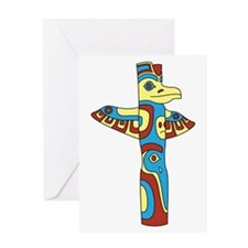 Alaskan Totem Pole Greeting Cards