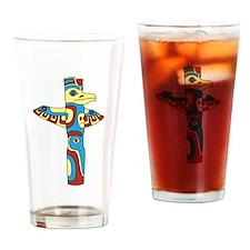 Alaskan Totem Pole Drinking Glass